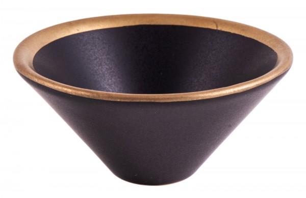 Räucherschale schwarz/gold