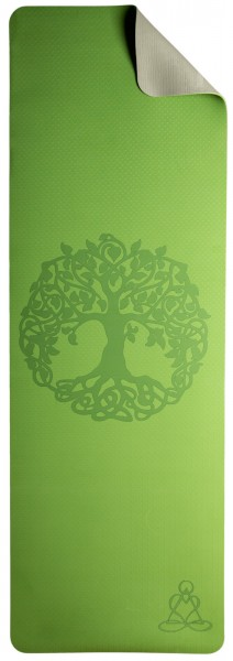 Yogamatte TPE ecofriendly - Yoga Matte hellgrün / grau