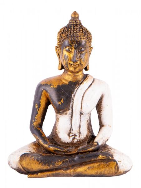 Buddha aus Fiberglas, weiß
