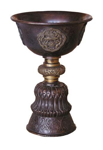 Bod - Räuchergefäß, ca. 18 cm aus Kupfer