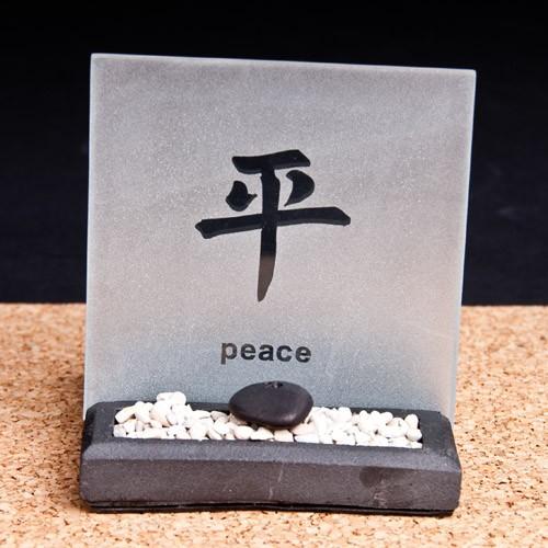 """Teelicht Zengarten """"Peace"""""""