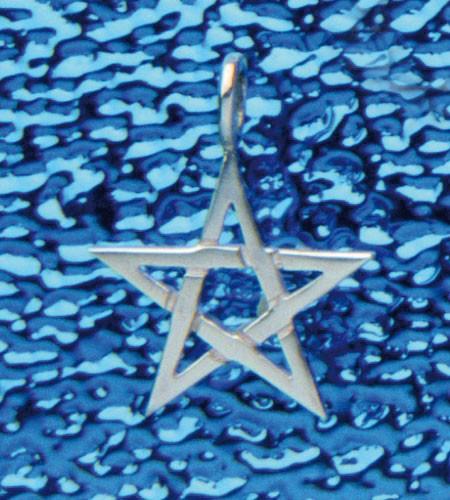 Pentagramm-Anhänger ohne Rand