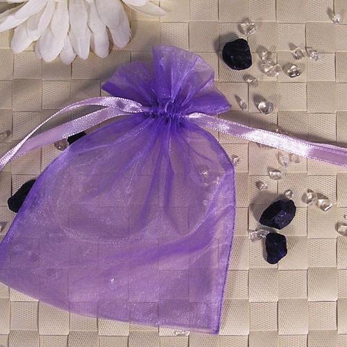 Organzabeutel mittel, 50er Set, lila, 12x16cm