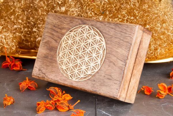 Blume des Lebens Holzbox
