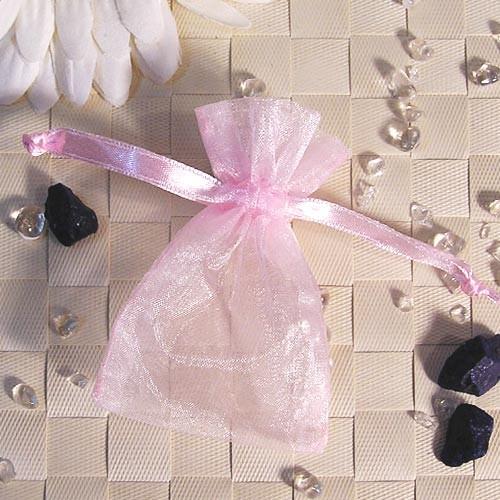 Organzabeutel mini, rosé, 6x9cm, 50 Stück