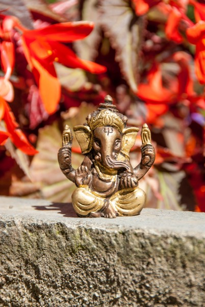 Ganesha Statue sitzend, 5,7 cm