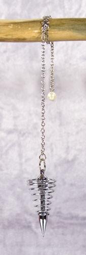 Pendel, verchromt, mit Kette, 4 cm