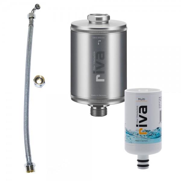 riva Trinkwasserfilter Multi inkl. flexiblem Schlauchanschluss-Set