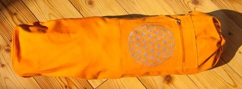 Yoga Tasche mit Blume des Lebens orange