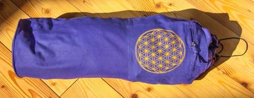 Yoga Tasche mit Blume des Lebens lila