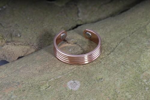 Straight- Magnet-Ring aus Kupfer