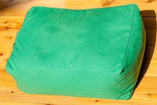 Quader Meditationskissen grün