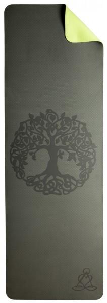 Yogamatte TPE ecofriendly - Yoga Matte dunkelgrün/ hellgrün