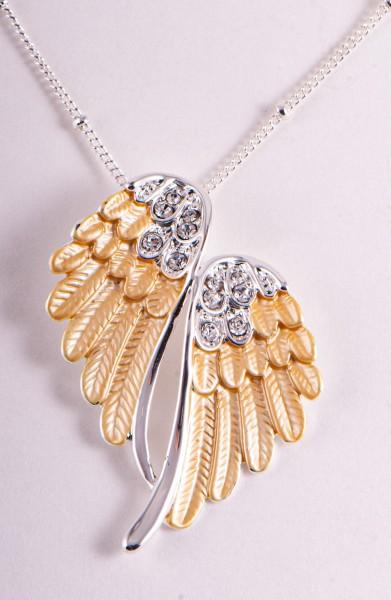 Engelsflügel, gold Anhänger