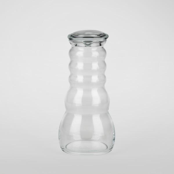 Cadus Krug 1l mit Glas, Zirbenholz oder Olivenholz