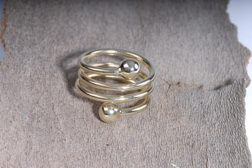 Spiral- Ring, vergoldet