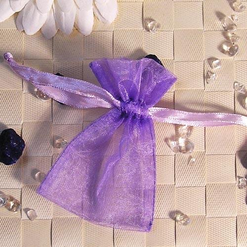 Organzabeutel mini, lila, 6x9cm