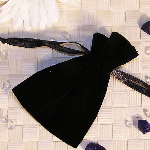 Samtbeutel schwarz, 20 Stück