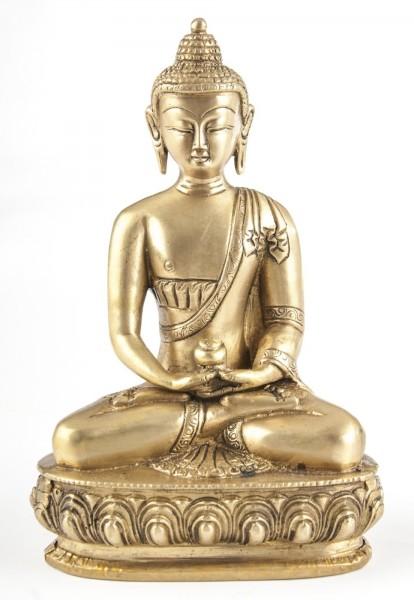 Buddha Amithaba, Messing, ca. 20 cm