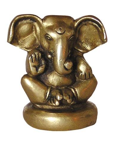 Ganesha sitzend, Messing, ca. 6cm