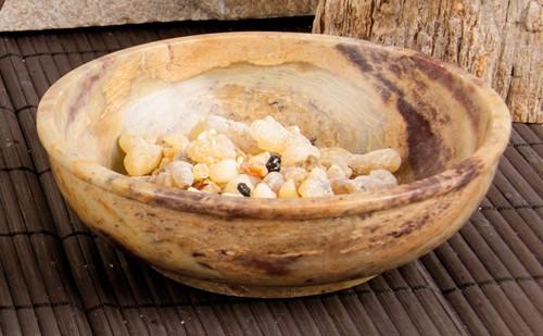 Steinschale - Speckstein, 13 cm Durchmesser