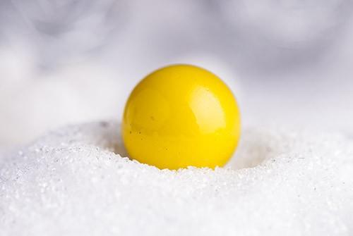 Engelsglöckchen Kugel gelb