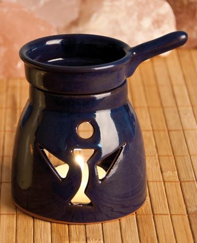 Aromalampe Engel, dunkelblau