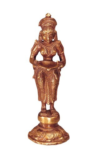 Lakshmi, stehend, Messing, 24 cm hoch