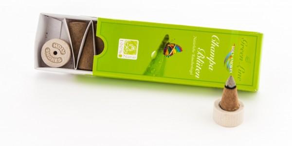 Champa-Blüten Räucherkegel - Green Line 16 g