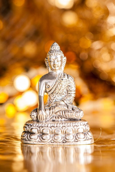 Shakyamuni Buddha, versilbert
