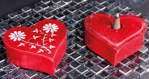 Herz Kegel-Box mit Vorratsbehälter