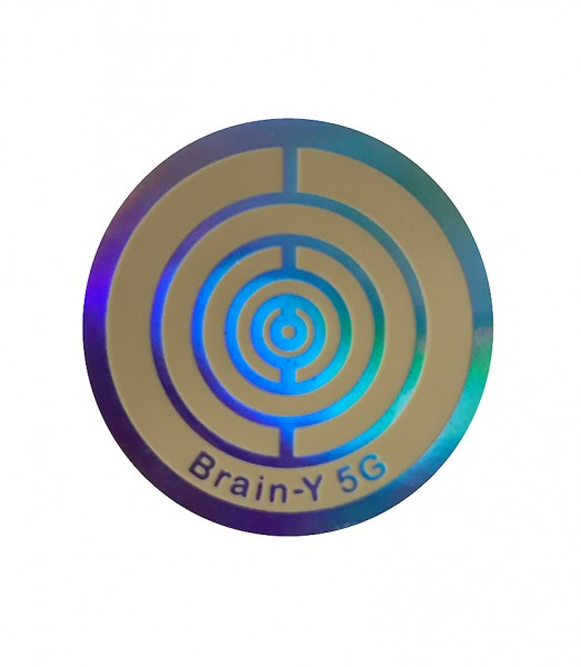 Brain-Y 5G-Folienaufkleber (Handy Chip) zum Aufkleben, Aluminium 2
