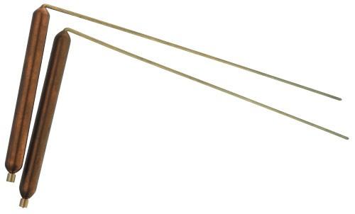 Wünschelrute Messing mit Kupfergriff groß