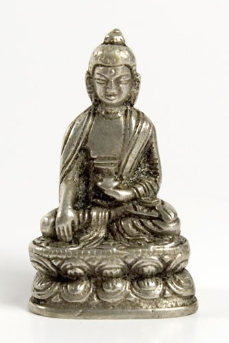 Buddha Akshobhya, versilbert 5,5 cm