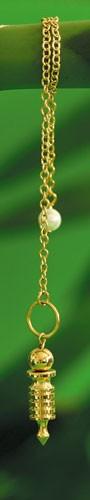 Isispendel mini, vergoldet