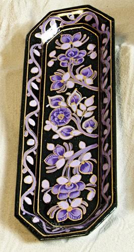 Lavendel - Halter aus Pappmasche