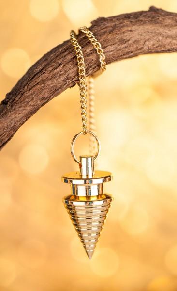Rillenpendel, Messing vergoldet