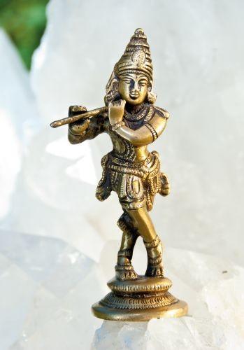 Krishna, Messing, ca. 12 cm