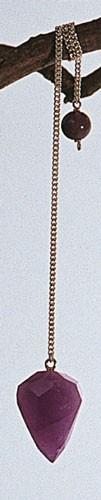 Pendel Amethyst geschliffen mit Kette