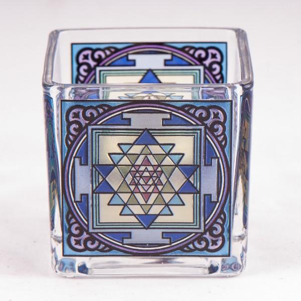 Teelichtglas Shri Yantra