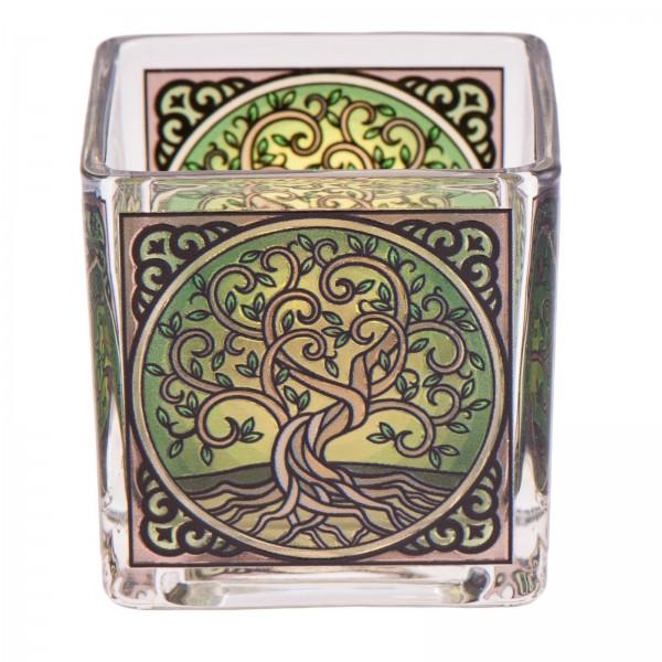 Teelichtglas Yggdrasil