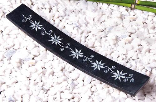 Blumengirlande graviert - Specksteinhalter