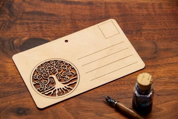 Holzpostkarte - Herz