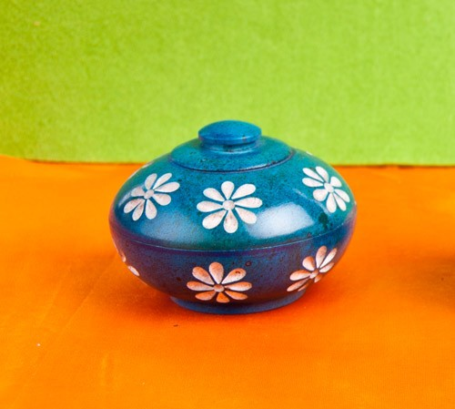 Blumendöschen, blau