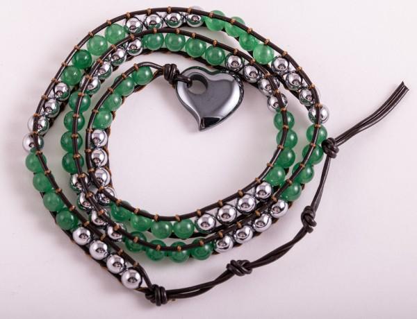 Magnet Wickelarmband grüner Aventurin