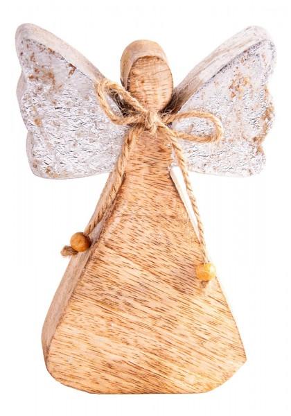 Holzengel, silber