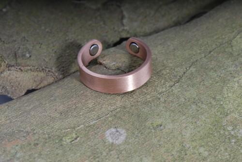 Plain- Magnet-Ring aus Kupfer