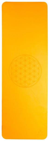 Yoga-Matte TPE ecofriendly - orange/grau