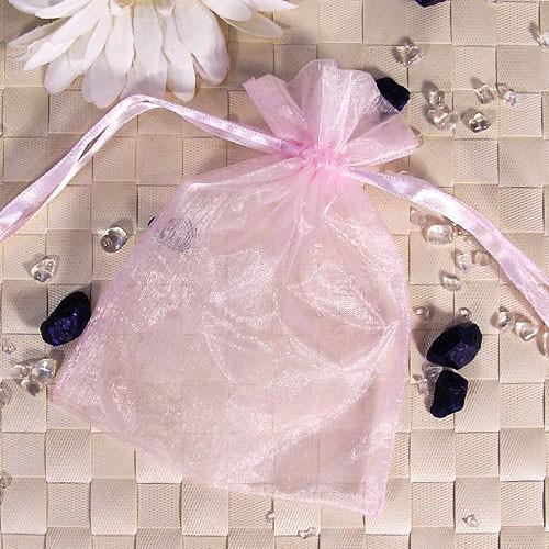 Organzabeutel mittel, rosé, 12x16cm