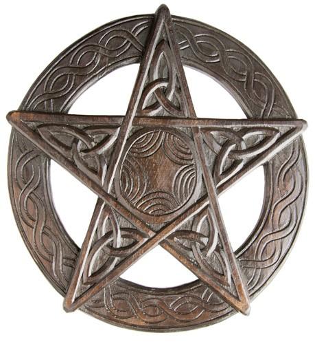 Pentagramm aus Holz